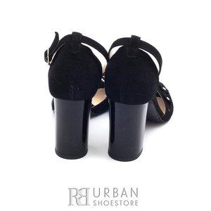 Sandale din piele intoarsa 1061-7 negru velur