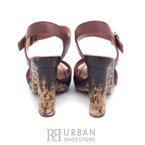 Sandale din piele naturala - 038-3 visiniu