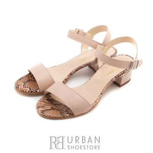 Sandale din piele naturala - C2 bej