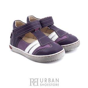 Sandale din piele naturala nabuc si box pentru copii – 119 mov