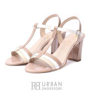Sandale elegante din piele lacuita
