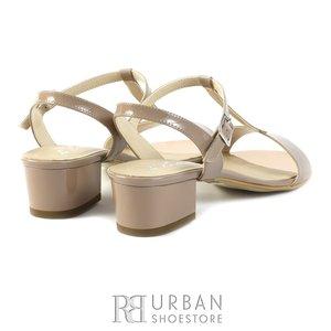 Sandale elegante din piele lacuita - S5 nude