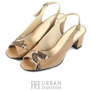 Sandale elegante din piele naturala - 0116-2 bej-croco