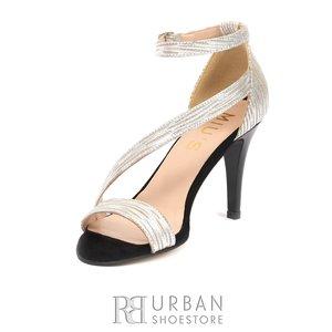 Sandale elegante din piele naturala - 1012 Argintiu Box