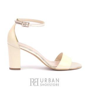 Sandale elegante din piele naturala box - C11 Bej box