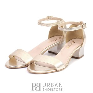 Sandale elegante din piele naturala box- PS72 Auriu Box