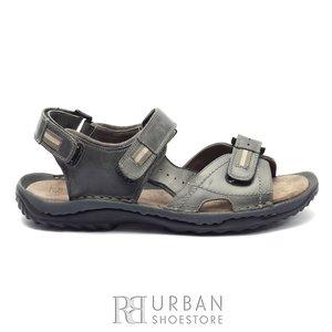Sandale outdoor din piele naturala Leofex- 693 Gri
