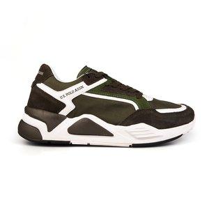 Sneakers barbati U.S. POLO ASSN.-505 Kaki Velur