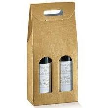 Cutie cadou vinuri 2 sticle - Aurie