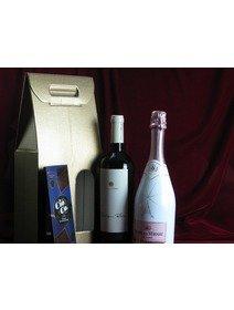 Pachet cadou Sauvignon blanc - Spumant Ice Rose - Ciocolata
