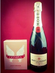 Sampanie Moet Chandon - Parfum Olympea, Paco Rabanne